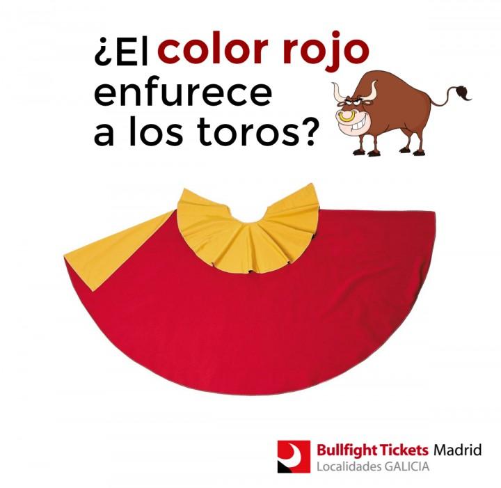 El color rojo enfurece a los toros